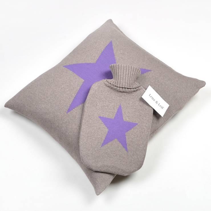 Stars - Glamouröse Decken, Kissen und Wärmflaschen: modern  von Lenz & Leif,Modern
