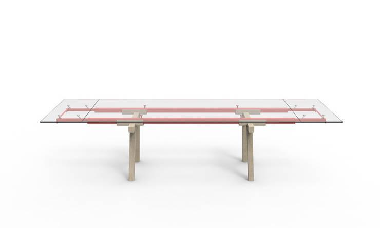 TRACKS TABLE – TABLE À RALLONGE BONALDO  :  de style  par Alain Gilles