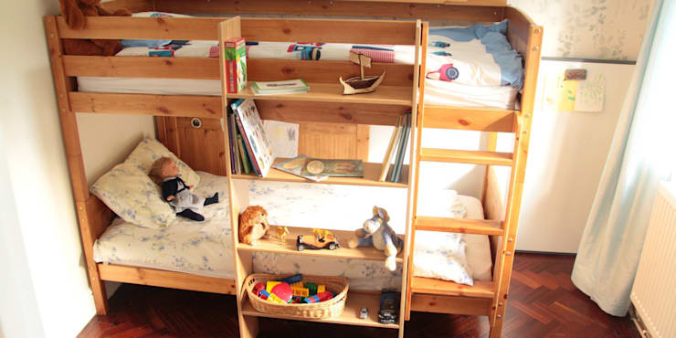 Bunk Bed Hanging Shelf:  Bedroom by Woodquail