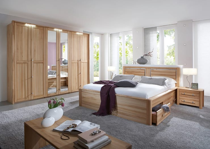 Спальная комната  в . Автор – Massive Naturmöbel