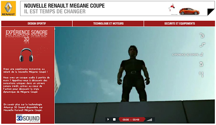 Expérience sonore 3D Renault: Salle multimédia de style  par Decibel Consulting