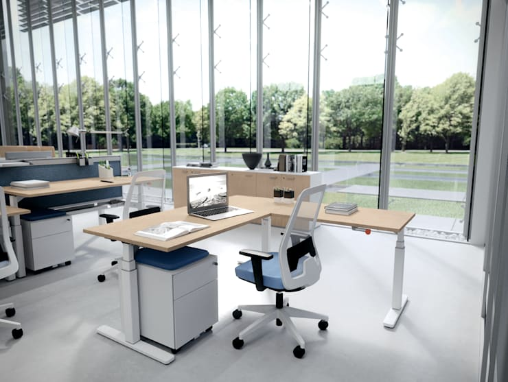DV803-NOBU (WORKSTATIONS): Studio in stile  di DVO S.P.A.