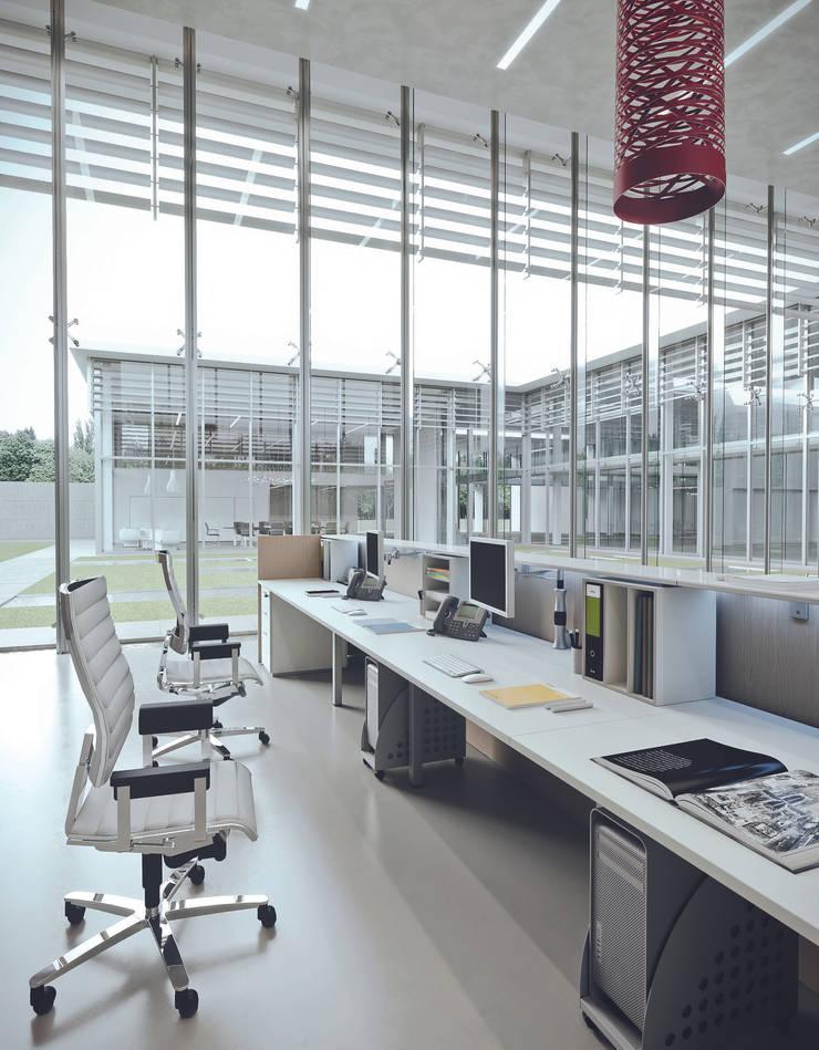 DV703-QUBO (RECEPTIONS): Studio in stile  di DVO S.P.A.