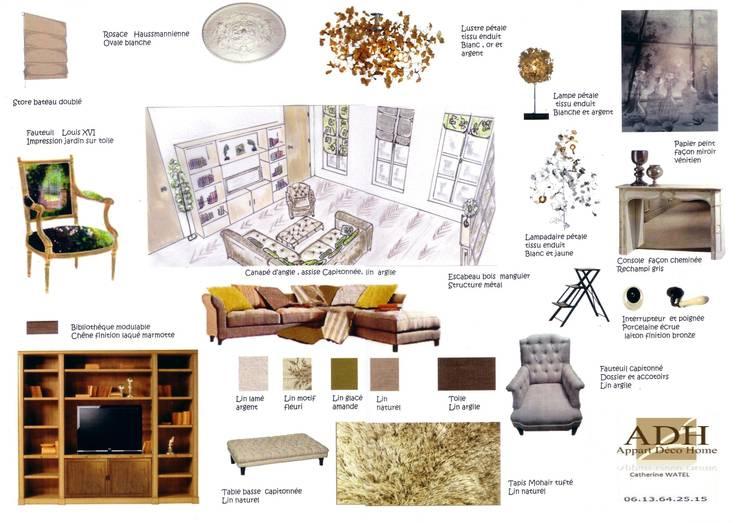 appartement: Salon de style  par APPART-DECOHOME