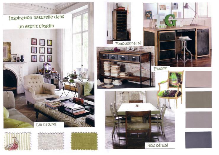Projet Appartement Haussmannien: Salon de style  par APPART-DECOHOME