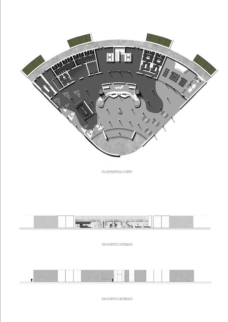 DRAWINGS: Hotel in stile  di FRANCESCO GENNARO Interior Design, Minimalista