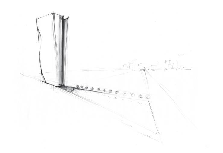 SKETCH: Hotel in stile  di FRANCESCO GENNARO Interior Design, Minimalista