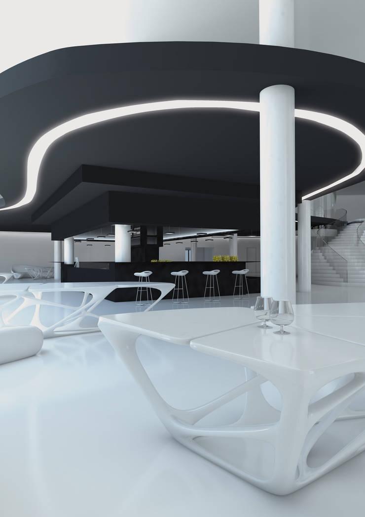 LOUNGE BAR: Hotel in stile  di FRANCESCO GENNARO Interior Design, Minimalista