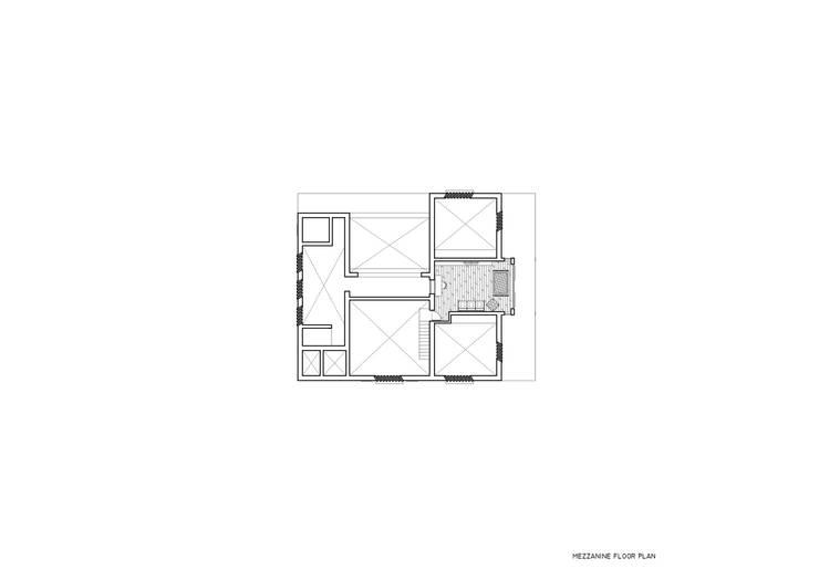 Mezzanine floor layout:   by M+P