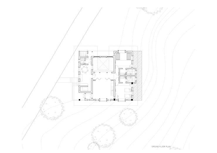 Ground floor layout:   by M+P