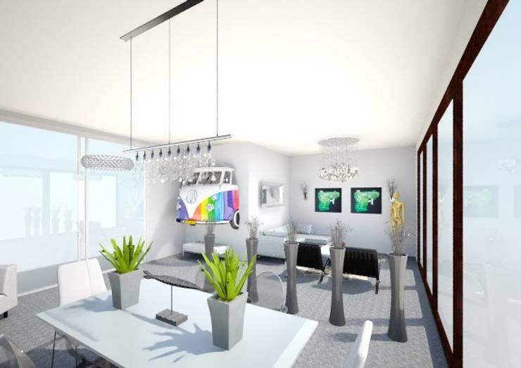 Modern Villa :   by Studio D. Interiors