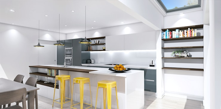 Cocinas de estilo  de Outsourcing Interior Design