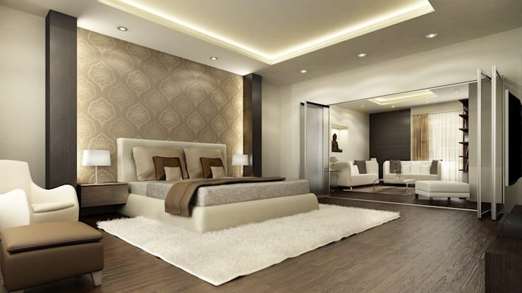 Bedroom:  Bedroom by Neeras Design Studio
