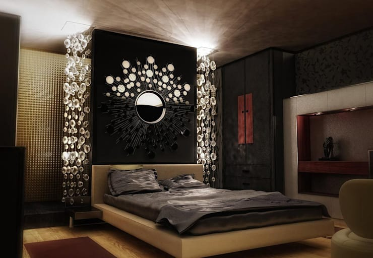 Glamour Bedroom:  Bedroom by Neeras Design Studio