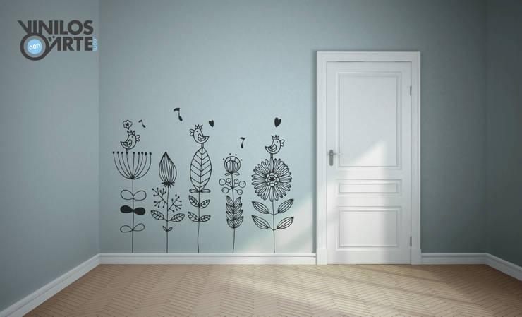 Pasillos y recibidores de estilo  por Vinilos con Arte