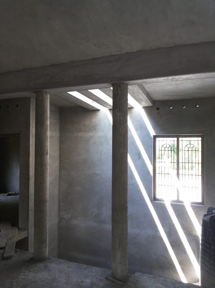 Construction Ongoing Kollam:  Houses by Gentle Homes- Architects and Builders