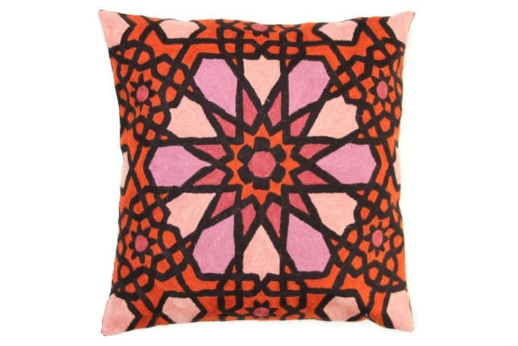crewel pillows:  Garden  by kashmir modernart gallery