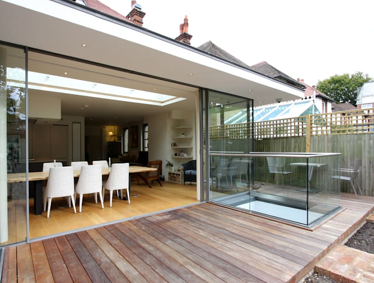 Courthope Road:  Dining room by IQ Glass UK