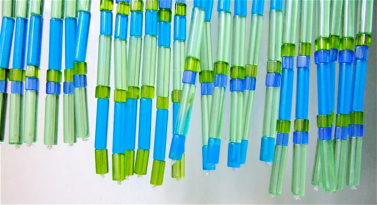 Nalki Tube Beads:  Corridor, hallway & stairs  by Memories of a Butterfly: bead curtains/screens/installations/Hanging Sculptures