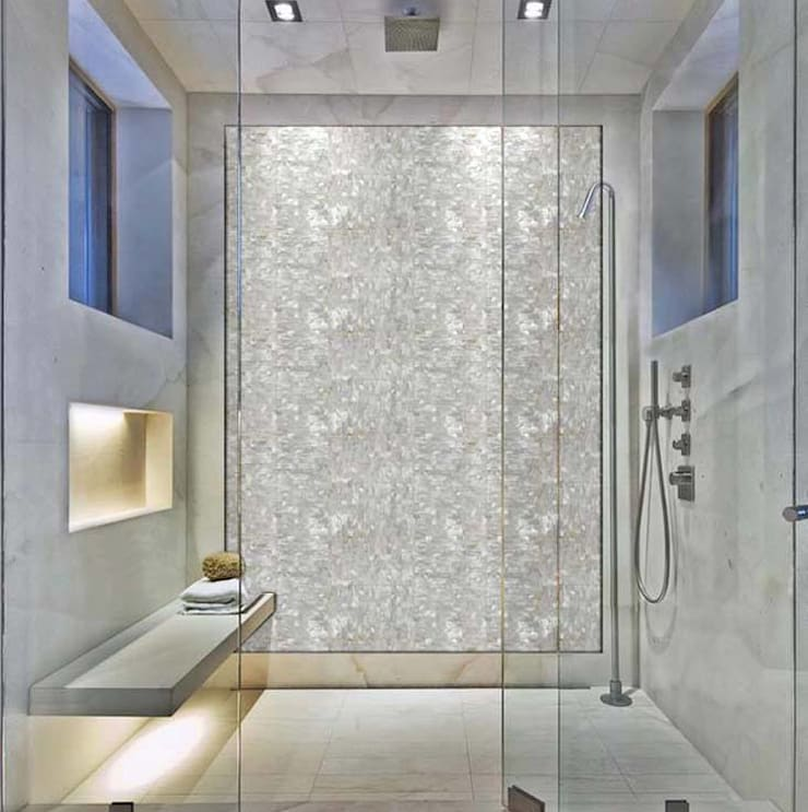 Mother Of Peal Wall:  Bathroom by Stonesmiths - Redefining Stone-Age