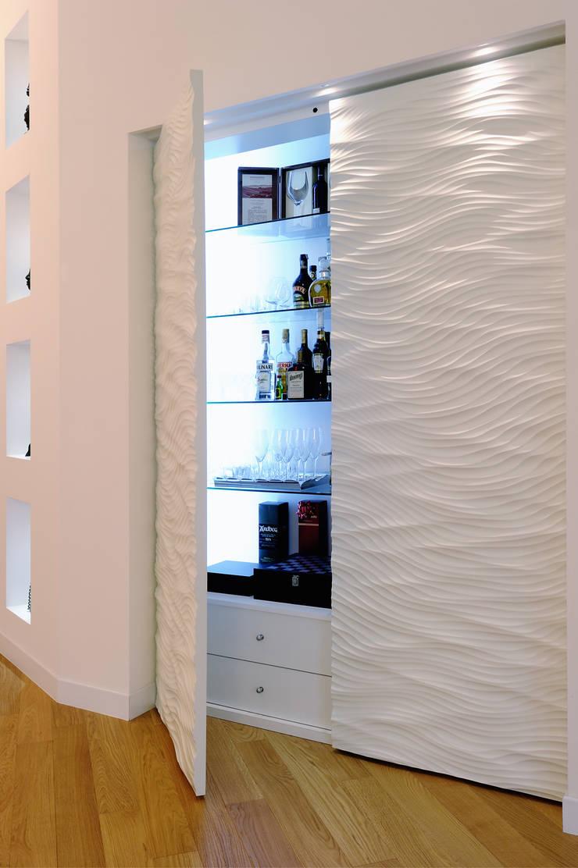 Attico di luce a ravenna Pareti & Pavimenti in stile moderno di Atelièr di progettazione Moderno