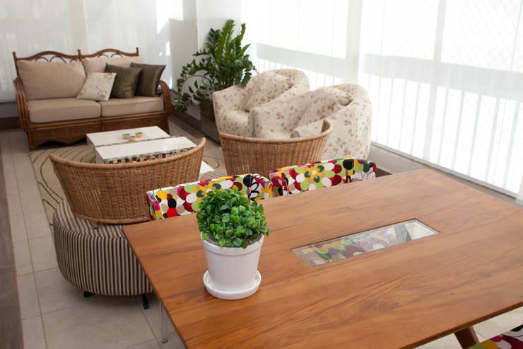 Área Gourmet - Cobertura: Terraços  por Orlane Santos Arquitetura