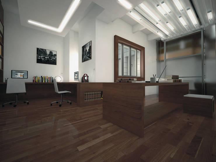 uffici in Milano: Studio in stile  di CFA - Cucciniello Fabbrica d'Architettura