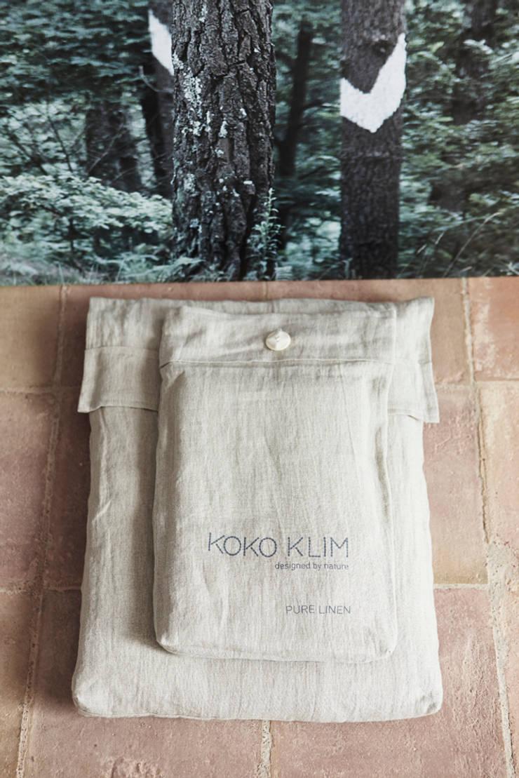 Set de cama - Lino Natural: Dormitorios de estilo  de KOKO KLIM
