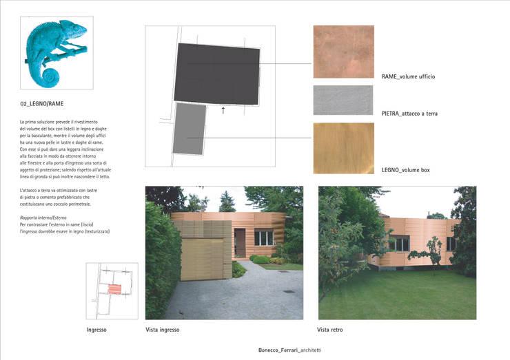 Seconda pelle: Complessi per uffici in stile  di Studio BASE