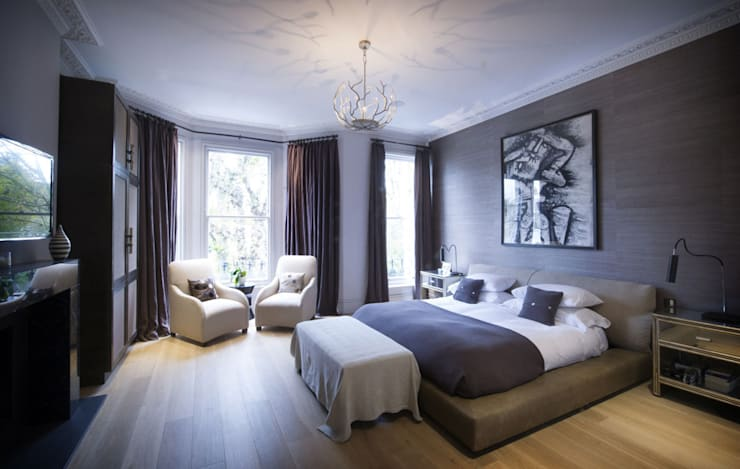 St James's Gardens, London:  Bedroom by Nelson Design Limited