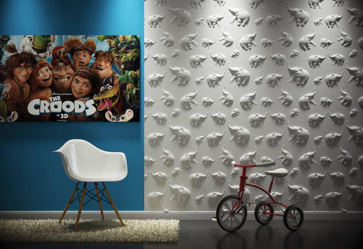 Dekorative 3d Wandpaneele LOFT DESIGN SYSTEM:  Kinderzimmer von Loft Design System Deutschland
