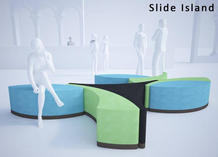 SLIDE ISLAND - Divano modulare: Negozi & Locali Commerciali in stile  di Giuseppe Granata - Designer   Vincenzo Schinella - Architetto