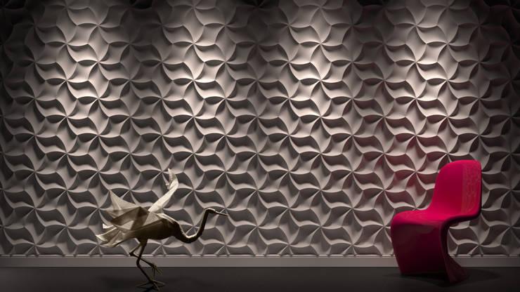 3D Wandpaneele aus Gips LOFT DESIGN SYSTEM:  Wände & Boden von Loft Design System Deutschland