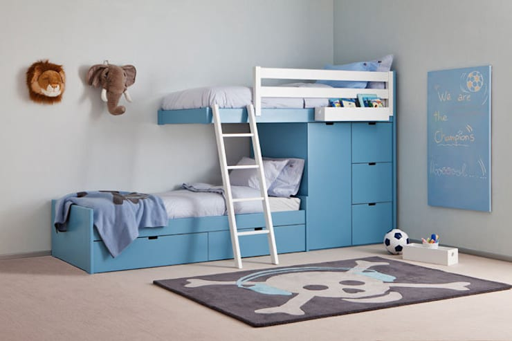 Habitaciones para niños de estilo  por Sofás Camas Cruces