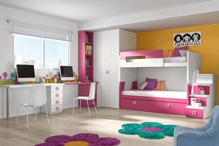 غرفة نوم بنات تنفيذ Sofás Camas Cruces