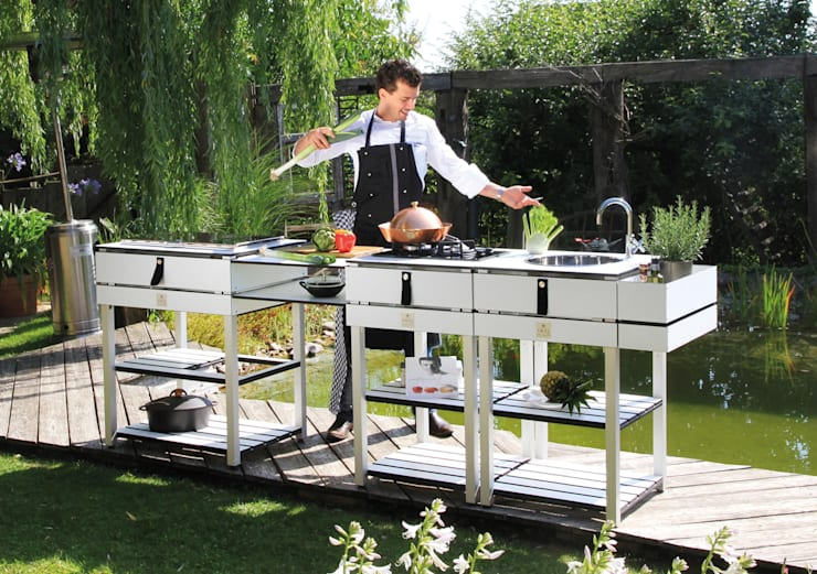 OCQ - Outdoor Cooking Queen:  tarz Balkon, Veranda & Teras
