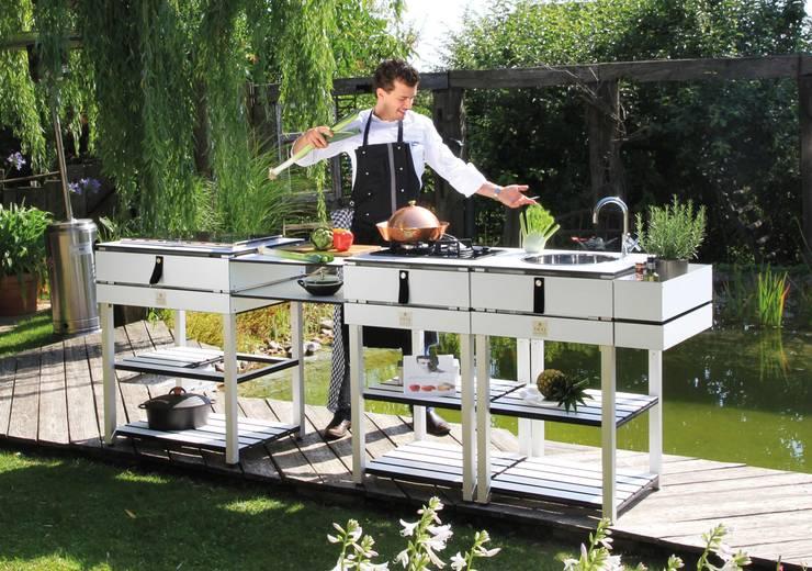 Outdoorküche Garten Edelstahl Günstig : Outdoorküche kochen an der frischen luft svz