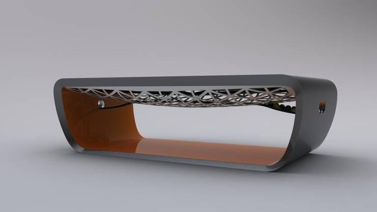 Blacklight Pool Table:  Multimedia room by Quantum Play