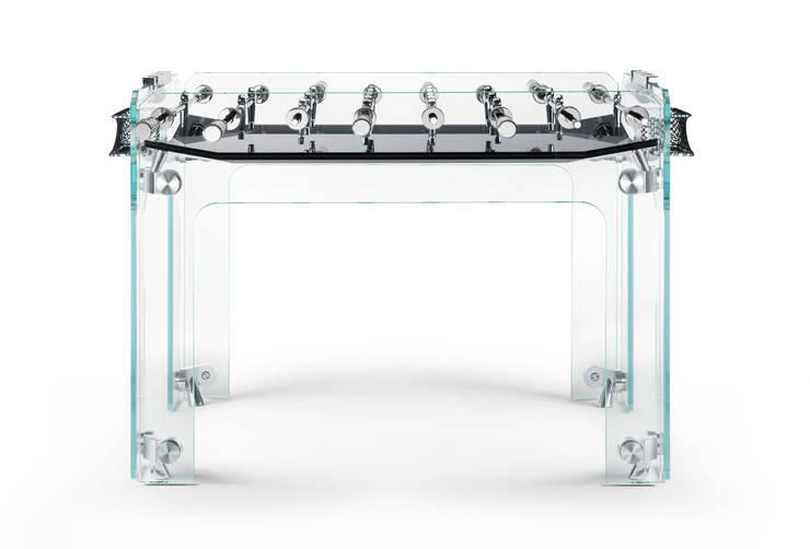 Cristallino Foosball Table:  Multimedia room by Quantum Play