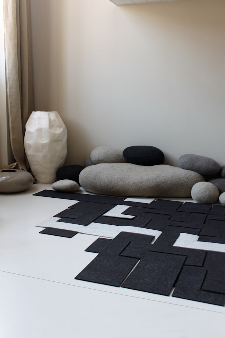 Tapis Tisserand: Maison de style  par METYLOS