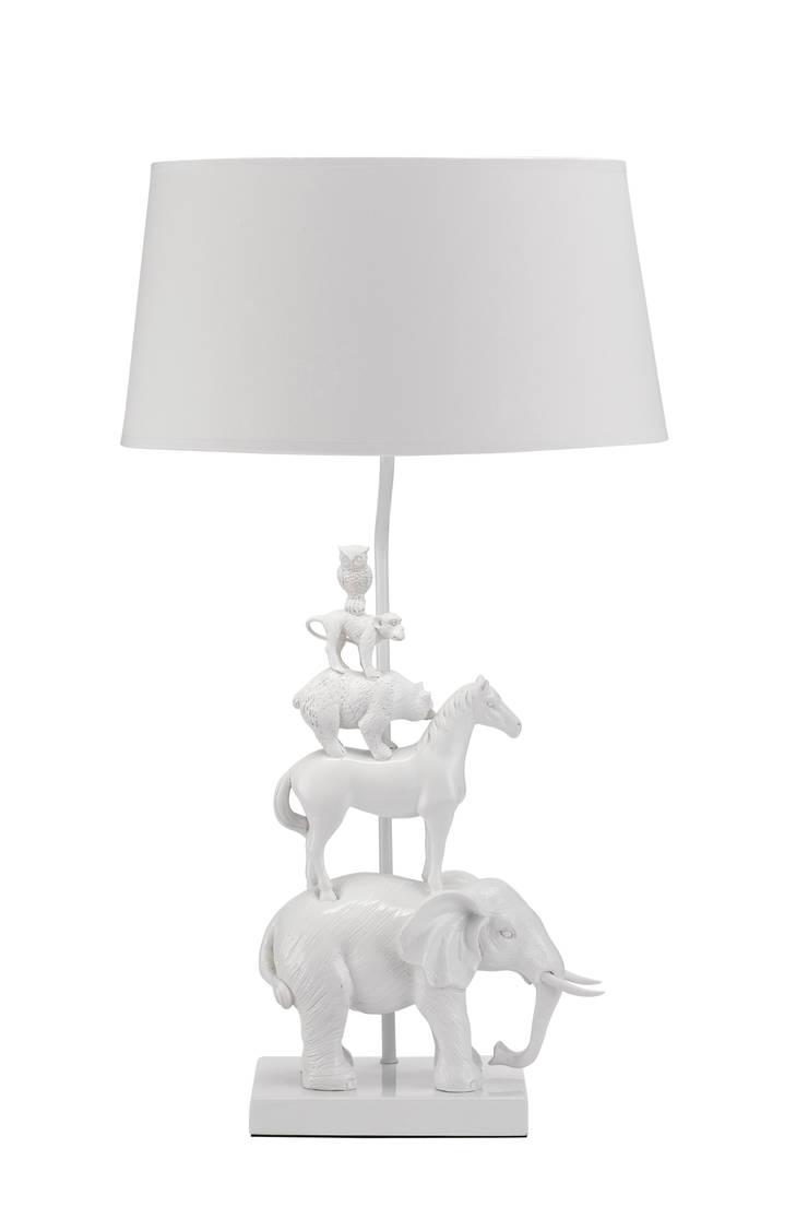 Animal Tower Left White:  de style  par Muno