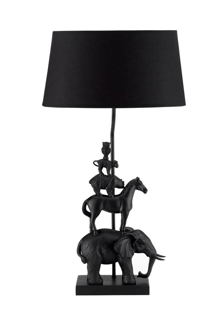 Animal Tower Left Black:  de style  par Muno