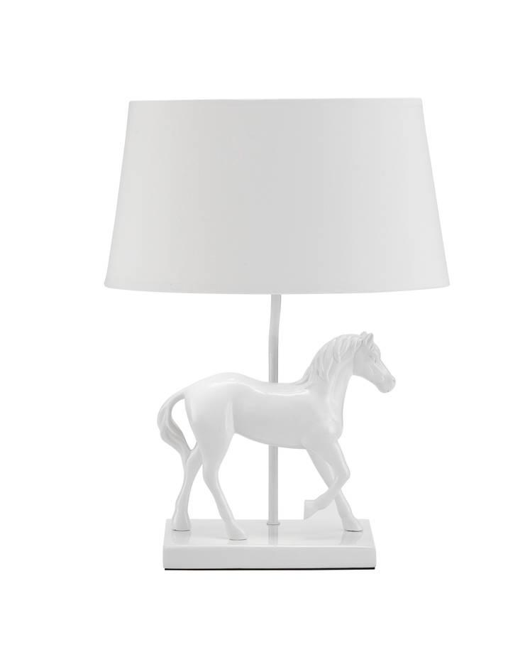 Animal Table Lamp Horse Left White:  de style  par Muno