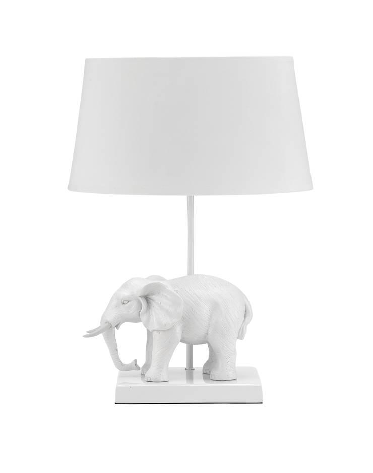 Animal Table Lamp Elephant White:  de style  par Muno