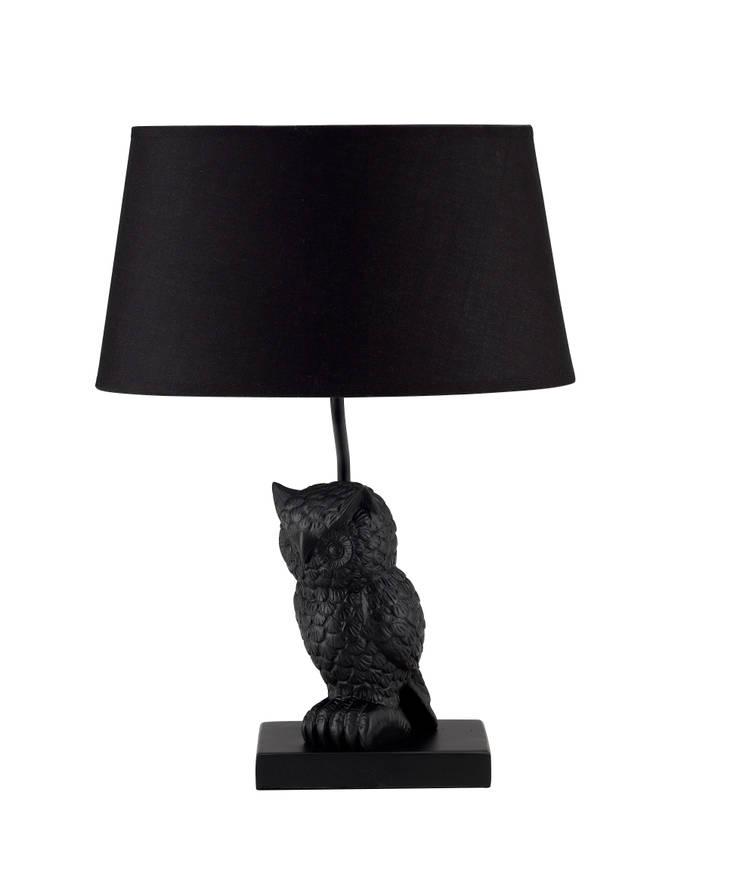 Animal Table Lamp Owl Black:  de style  par Muno