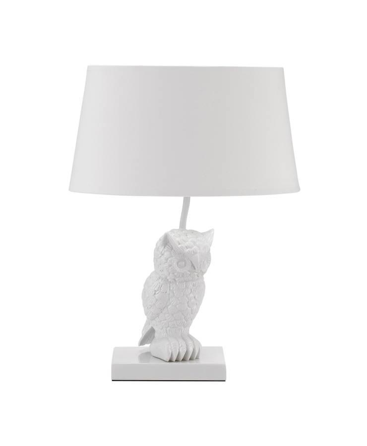 Animal Table Lamp Owl Left White:  de style  par Muno