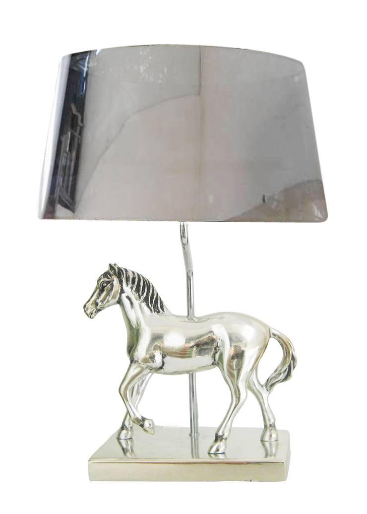 Animal Table Lamp Horse Chrome:  de style  par Muno