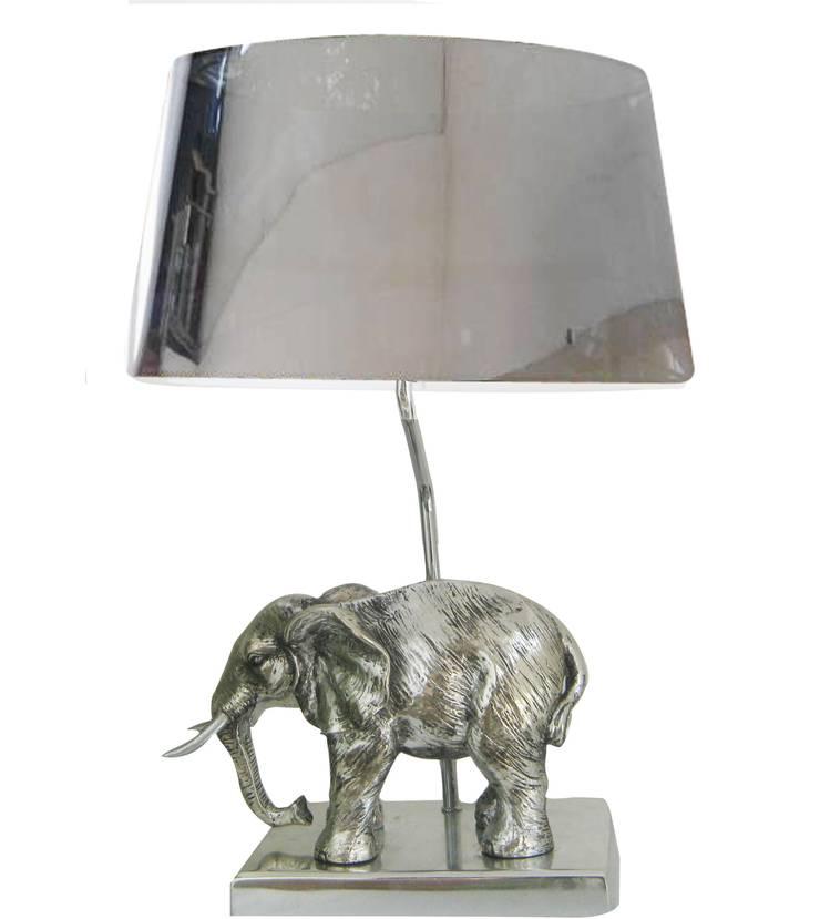 Animal Table Lamp Elephant Chrome:  de style  par Muno