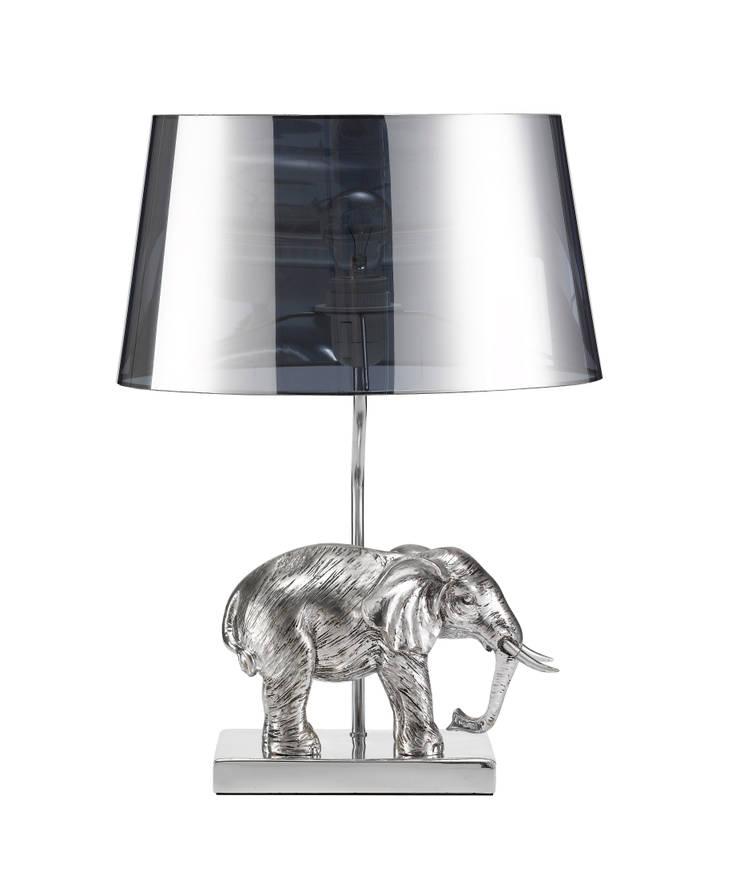 Animal Table Lamp Elephant Left Chrome:  de style  par Muno