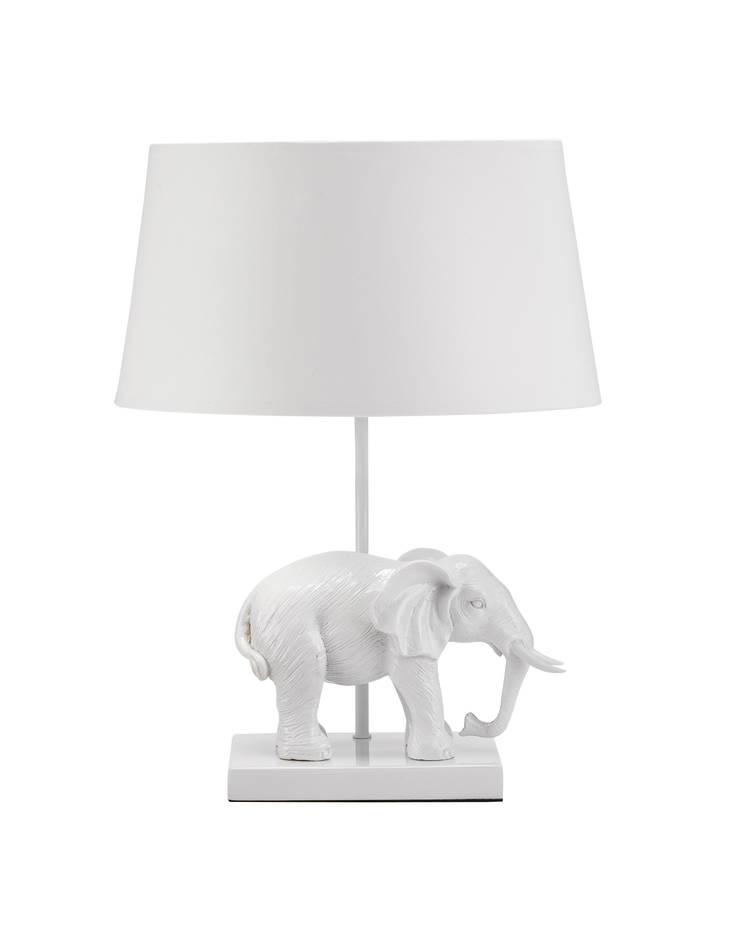 Animal Table Lamp Elephant Left White:  de style  par Muno